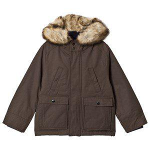 Cyrillus Olive Parka with Faux Fur Trim Hood Winter coats