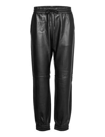 Fqharley-Pa-Jog Leather Leggings/Bukser Svart FREE/QUENT
