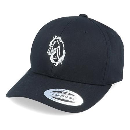 Iconic Ajustável Bonés Preto @ Hatstore | Bonés Horse Life Curved Black Adjustable Iconic
