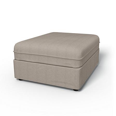 IKEA - Vallentuna Seat Module Cover 80x100cm 32x39in, Silver Grey, Recycled - Bemz