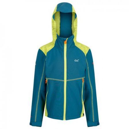 Regatta BarnJassen Unisex Jackets Childrens/kid Acidity Iii Reflective Softshell Jacket Polyester/elastaan Size 13Y Blauw