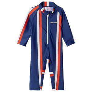 Mini Rodini Stripe Aop Uv Suit Blue