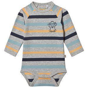 Minymo Stripe Baby Body Grey