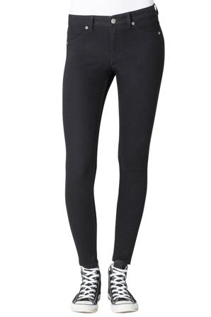 Cheap Monday Smala Jeans Dam Slim Mid Spray Black Ekologiskt Bomull/polyester/elastan Size 26-27 Svart