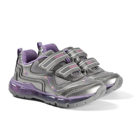 Geox Android Sneakers Dark Silver/Dark Lilac