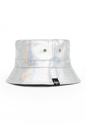 Hype Petten & hoeden Dames Hats Grey Iridescent Bucket Hat Polyester/polyurethaan Grijs