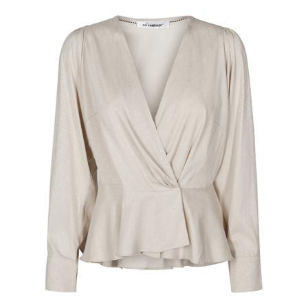 Co'Couture Justin wrap blouse Beige, Dame, Størrelse: M