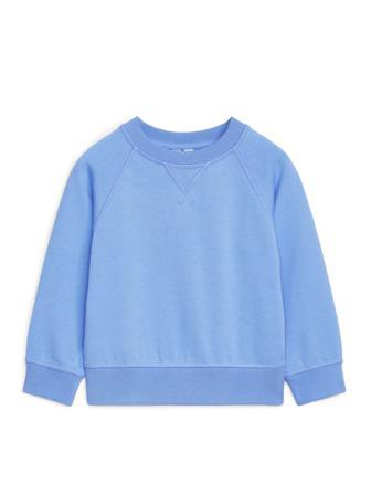 ARKET - Crew-Neck Sweatshirt - Blå - Barn - Storlek 98/104 - Skjorta
