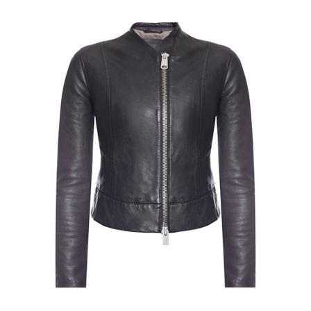 AllSaints Jae leather jacket Sort, Dame, Størrelse: 6
