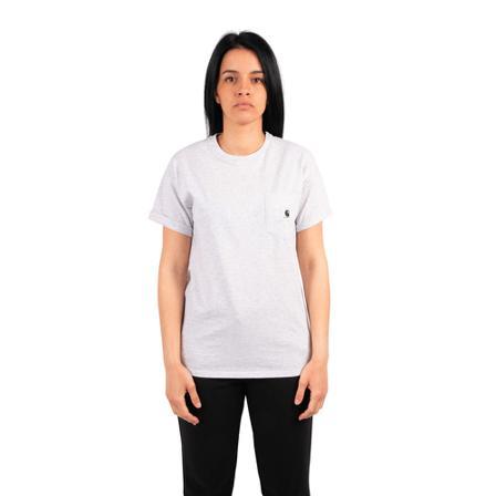 Carhartt Wip, T-shirt carrie Grijs, Dames, Maat:M