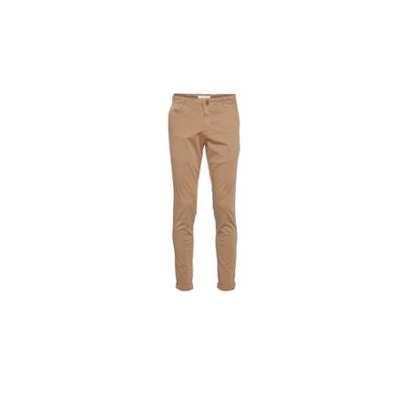 Knowledge Cotton Apparel, JOE slim chino pants Beige, Heren, Maat:W28