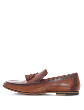 Belvor Loafers & Brouges Herren Brogues Men's Without Laces Brown Leer Size 41 Bruin
