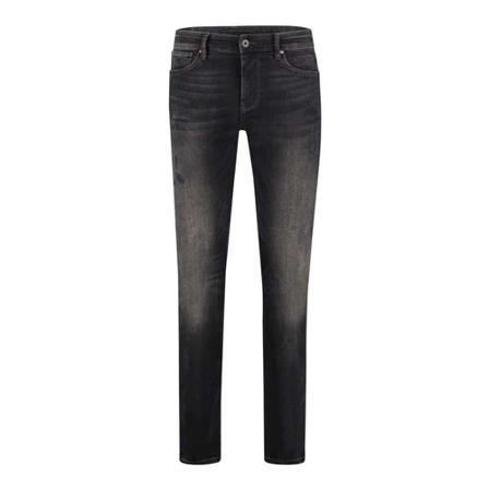 PureWhite, The jone skinny jeans Zwart, Heren, Maat:W34
