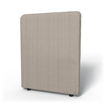 IKEA - Vallentuna High Backrest Cover 80x100cm 32x39in, Silver Grey, Recycled - Bemz
