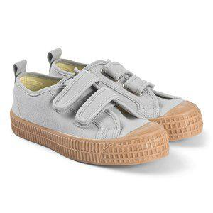 Grey with Tan Sole Star Master Velcro Kid Trainers 34 (UK 1.5)