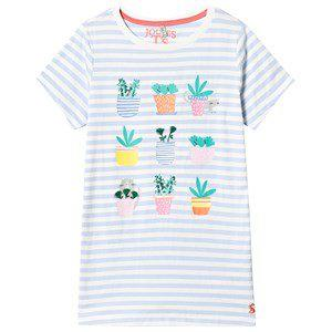 Tom Joule Blue and White Stripe Cactus Tee