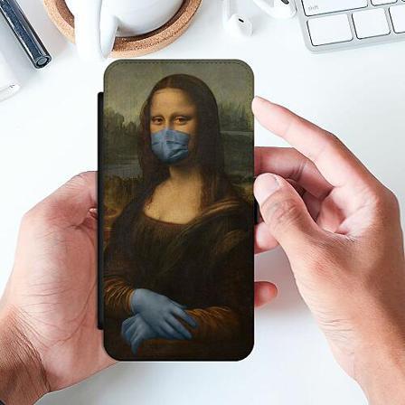 Samsung Galaxy S21+ Slimmat Fodral Mona Lisa Mask