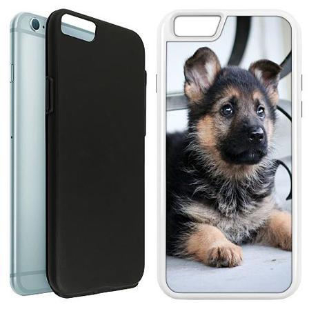 Apple iPhone 6 / 6S Duo Case Vit Schäfer Puppy