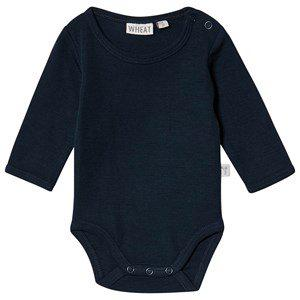 Wheat Body Plain Wool Ls Navy
