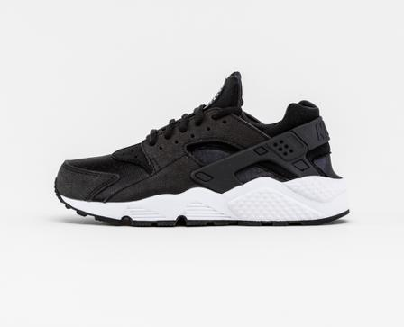 Nike Air Huarache Run - Svart/Hvit - female - Sko - Sneakers - Lave Sneakers - US9.5 / EU41