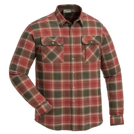 Pinewood Men's Prestwick Exclusive Shirt Men long-sleeved shirts Red XXL