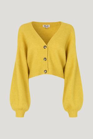 Køb Strik fra Baum und Pferdgarten. Chasmeen Cardigan str: XS. Farve: Oil Yellow Mel.. Køb på www.baumundpferdgarten.com eller i vores butik i