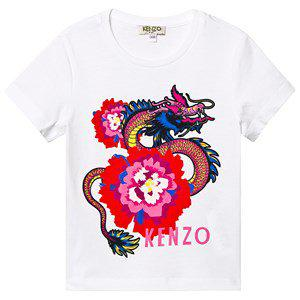 Kenzo Japanese Dragon Tee Optic White