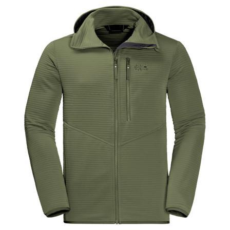 Jack Wolfskin Men's Modesto Hooded Jacket Men mid layer tops Green L