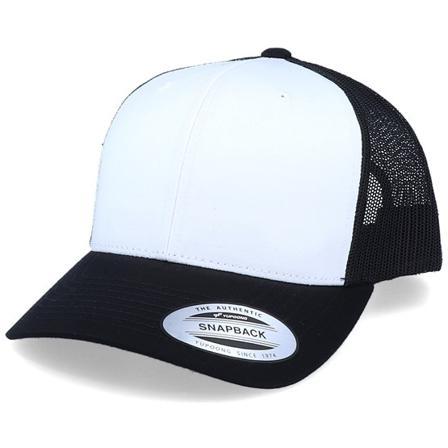 Yupoong Trucker Bonés Preto @ Hatstore | Bonés Retro Black/White/Black Trucker Yupoong