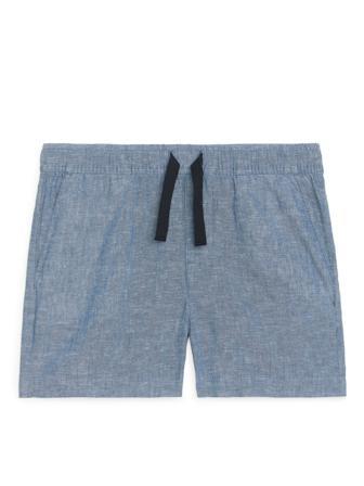 ARKET - Children's Drawstring Shorts - Blue - Size 116
