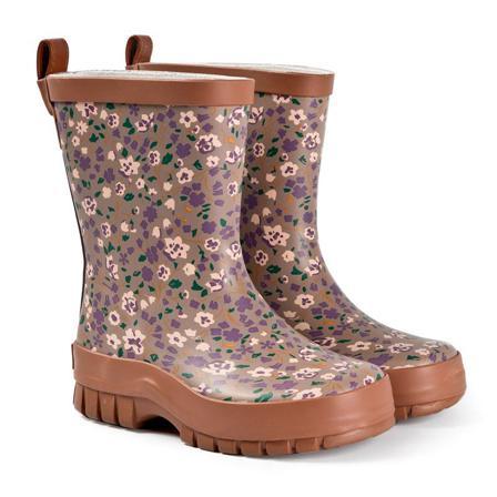 Kuling Caracas Rubber Boots Lilac Flower