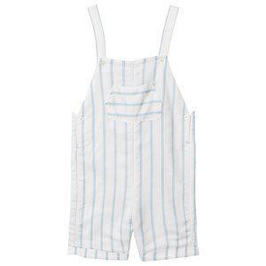 Absorba Stripe Overalls White/Blue