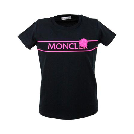 Moncler, T-shirt Zwart, Jongen, Maat:14y