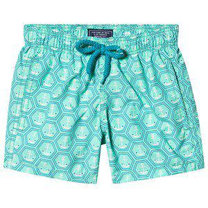 Vilebrequin Anchor Print Swim Shorts Green