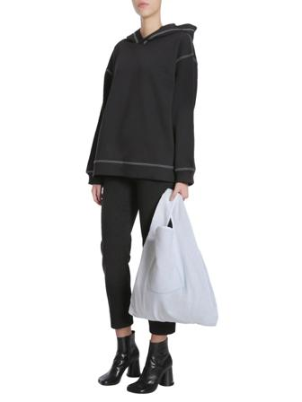 Mm6 Maison Margiela Skjortor Dam Sweatshirts Women's Cotton Sweatshirt Bomull Size Small Svart