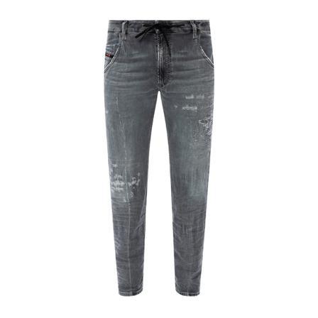 Diesel, Krooley Jogg raw-cut jeans Grijs, Heren, Maat:W34 L32