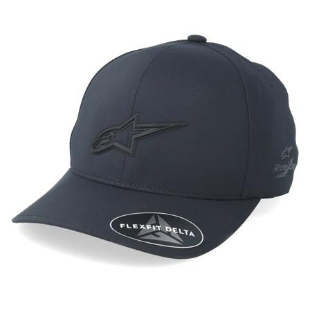 Alpinestars Stretch Fitted Caps Black @ Hatstore | Caps Ageless Delta Black Flexfit Alpinestars