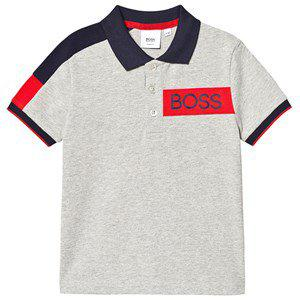 BOSS Grey Contrast Sleeve BOSS Polo