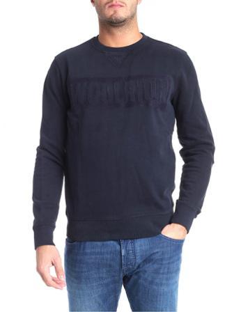 Woolrich Skjortor Herr Sweatshirts Men's Cotton Sweatshirt Bomull Size Medium Blå