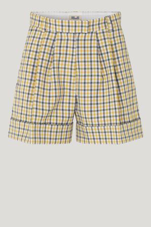Køb Shorts & Nederdele fra Baum und Pferdgarten. Nomade Shorts str: 36. Farve: Mustard Check. Køb på www.baumundpferdgarten.com eller i vores butik i