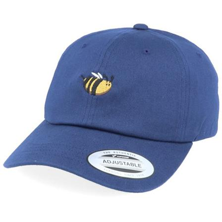 Iconic Dad Cap / Unconstructed Caps Blue @ Hatstore | Caps Organic Tiny Bee Navy Dad Cap / Unconstructed Iconic