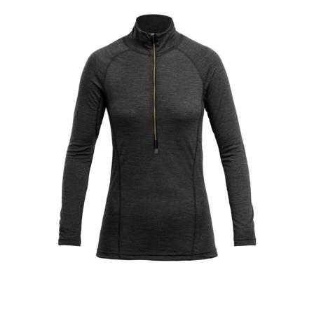 Devold Running Woman Zip Neck Women long-sleeved training tops Grey M