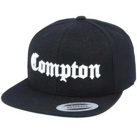 Mister Tee Snapback Gorras Negro @ Hatstore | Gorras Compton Black/White Snapback Mister Tee