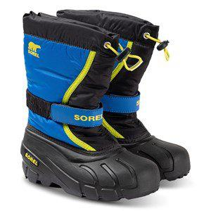 Sorel Youth Flurry Snow Boots Black/Super Blue Snow boots