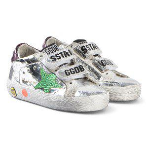 Golden Goose Foil Effect Old School Sneakers Silver kids footwear 34 (UK 2)