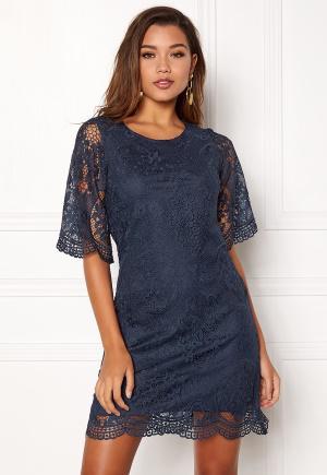 Happy Holly - Vicky lace dress Dark blue 36 - Korta klänningar - Dam - Blå - 36