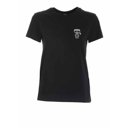 Karl Lagerfeld ikonik mini tee T-shirts, Sort, female, Størrelse: S