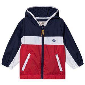 Timberland Color Block Small Tree Logo Windbreaker Jacket Navy/Red