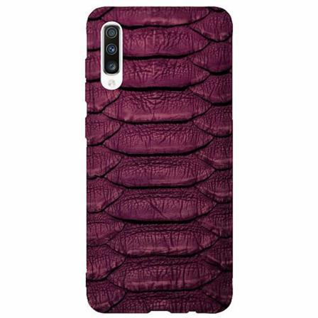 Samsung Galaxy A50 Thin Case Burgundy Snake
