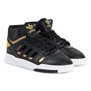 adidas Originals Drop Step Sneakers Black/Gold kids footwear 38 2/3 (UK 5.5)